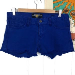 Lucky Brand Riley Shorts Distressed Blue Jeans 2